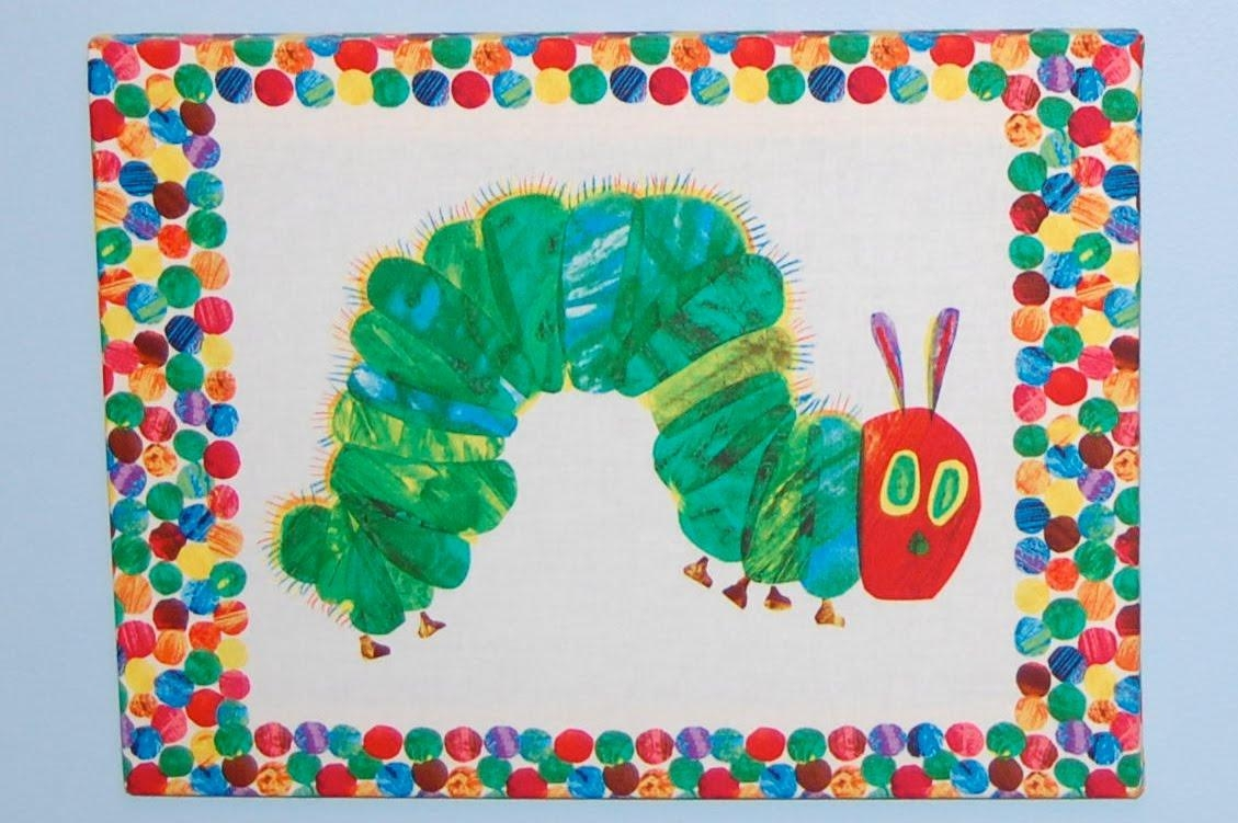 The Green Caterpillar: Very Hungry Caterpillar Room Part 1 – Wall Art Inside Very Hungry Caterpillar Wall Art (View 6 of 20)