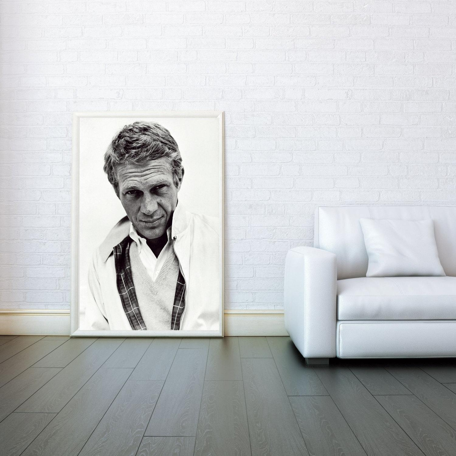 The King Of Cool Steve Mcqueen – Decorative Arts Prints & Posters For Steve Mcqueen Wall Art (View 7 of 20)