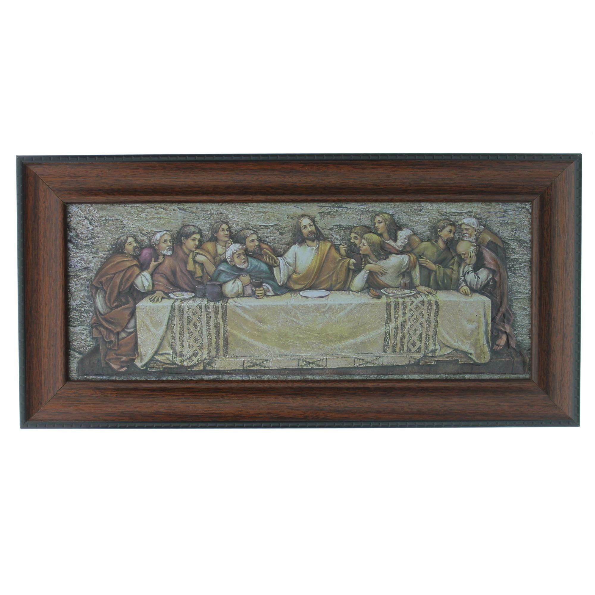 The Last Supper Framed Plaque | The Catholic Company Regarding Last Supper Wall Art (View 8 of 20)