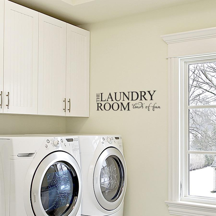 The Laundry Room Loads Of Fun Wall Art Decals Inside Laundry Room Wall Art (Image 19 of 20)