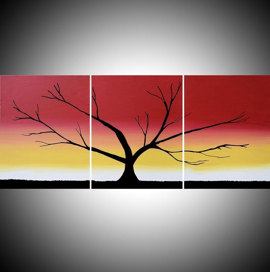 "The Rainbow Tree"" Acrylic Tree Painting,happy Tree Painter Regarding Triptych Art For Sale (View 8 of 20)"
