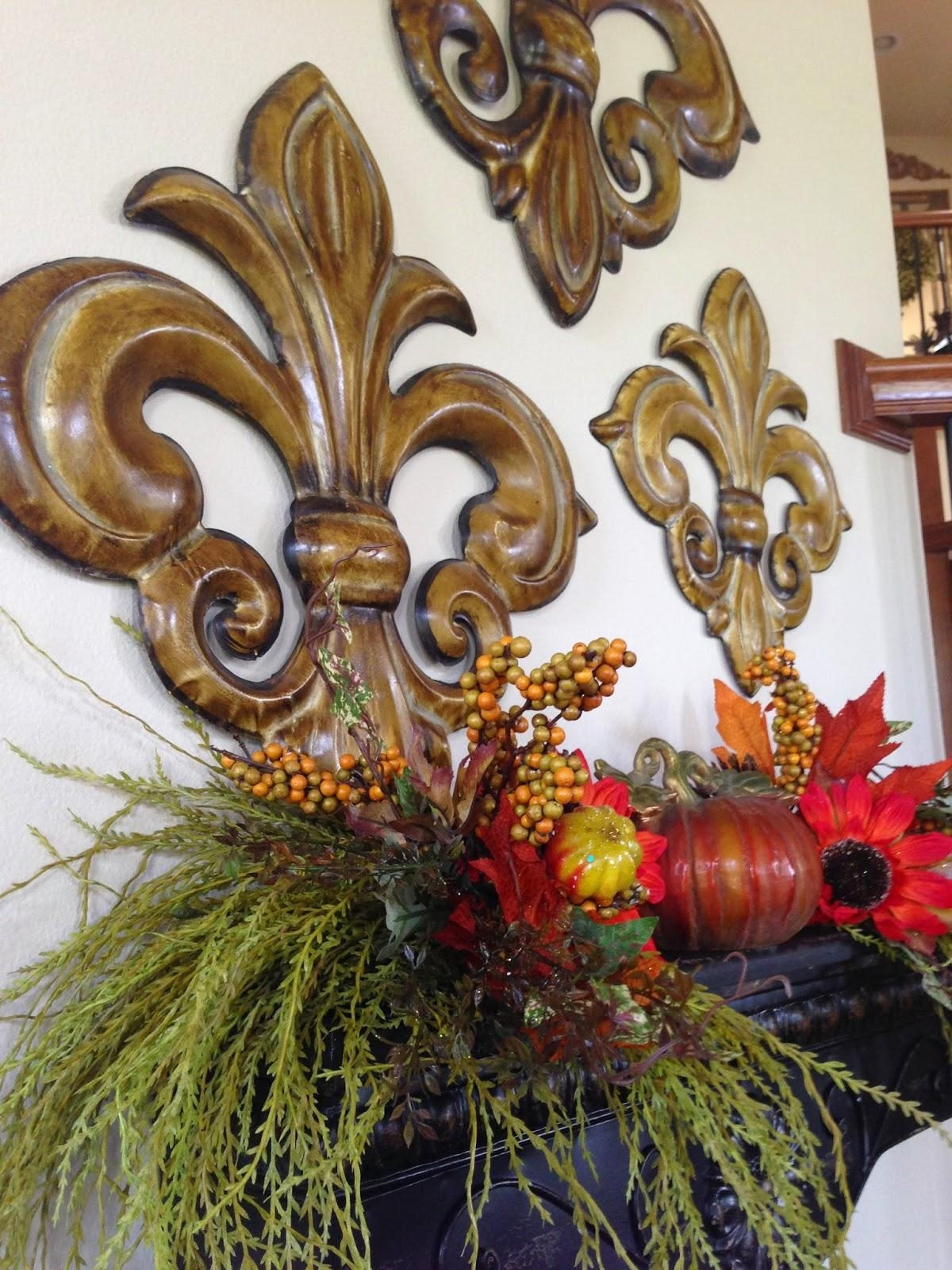 The Tuscan Home: Tuscan Style Wall Shelf Decorated For Fall With Regard To Tuscan Wall Art Decor (Image 7 of 20)