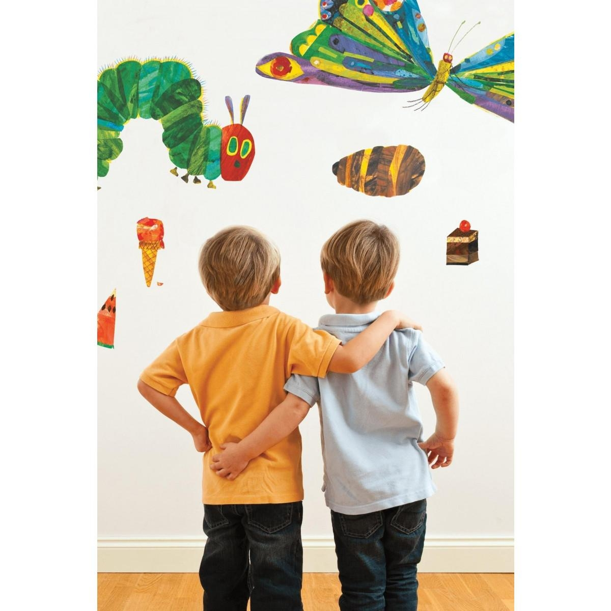 The Very Hungry Caterpillar 49 Room Decor Stickers Intended For The Very Hungry Caterpillar Wall Art (Image 17 of 20)