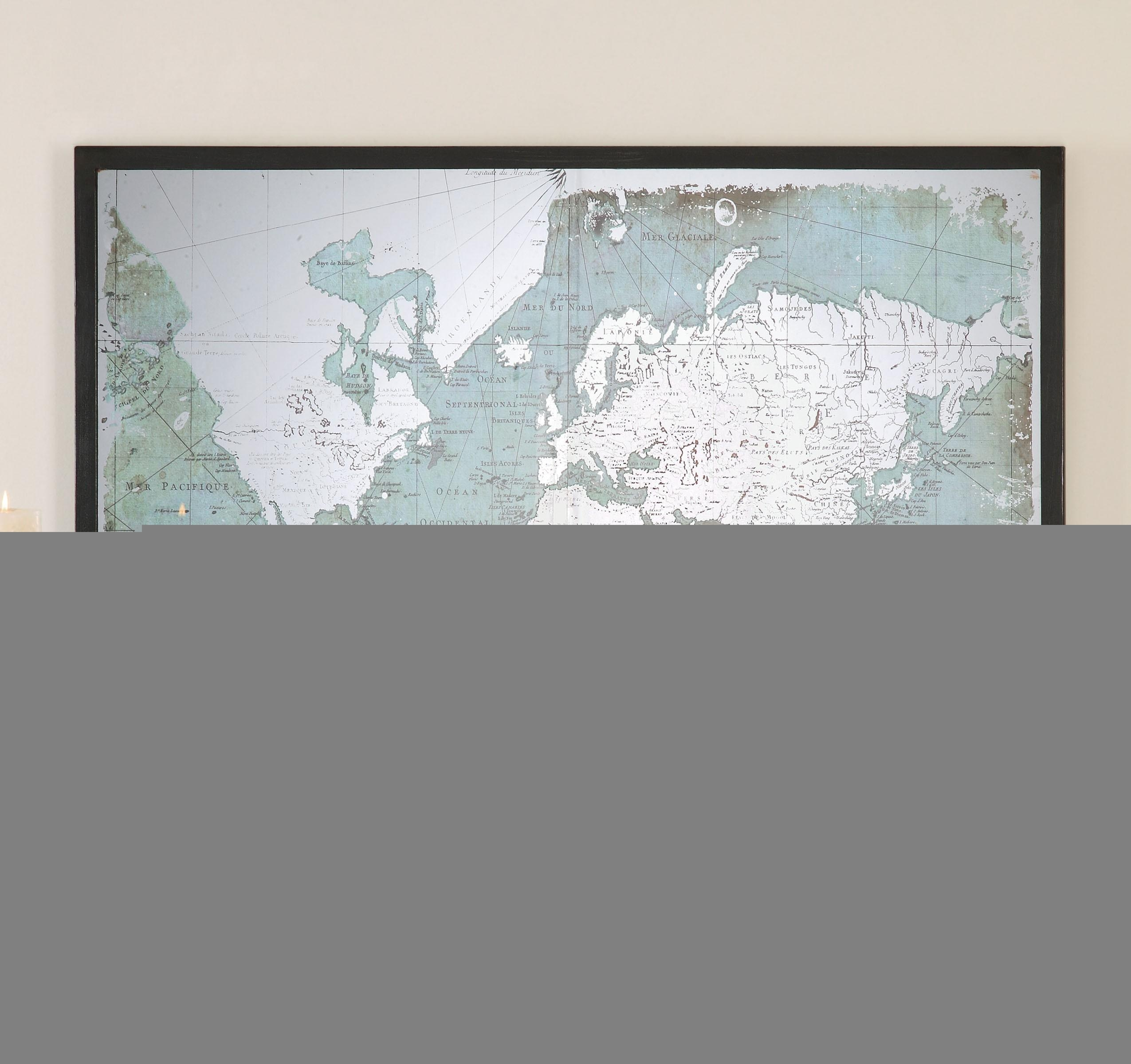 The Well Appointed House – Luxuries For The Home – The Well Throughout Framed World Map Wall Art (Image 12 of 20)