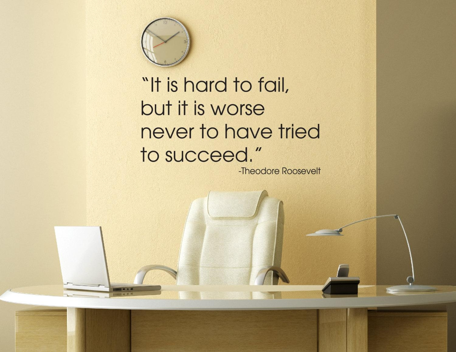 Theodore Roosevelt Quote Wall Decal Office Decals Vinyl Intended For Inspirational Wall Decals For Office (Image 19 of 20)