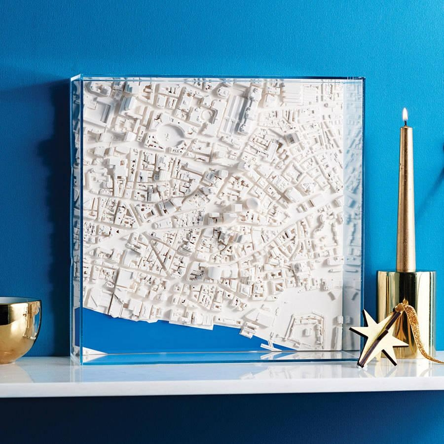 Three D London Map Wall Artchisel & Mouse | Notonthehighstreet Pertaining To Map Wall Art (Image 17 of 20)