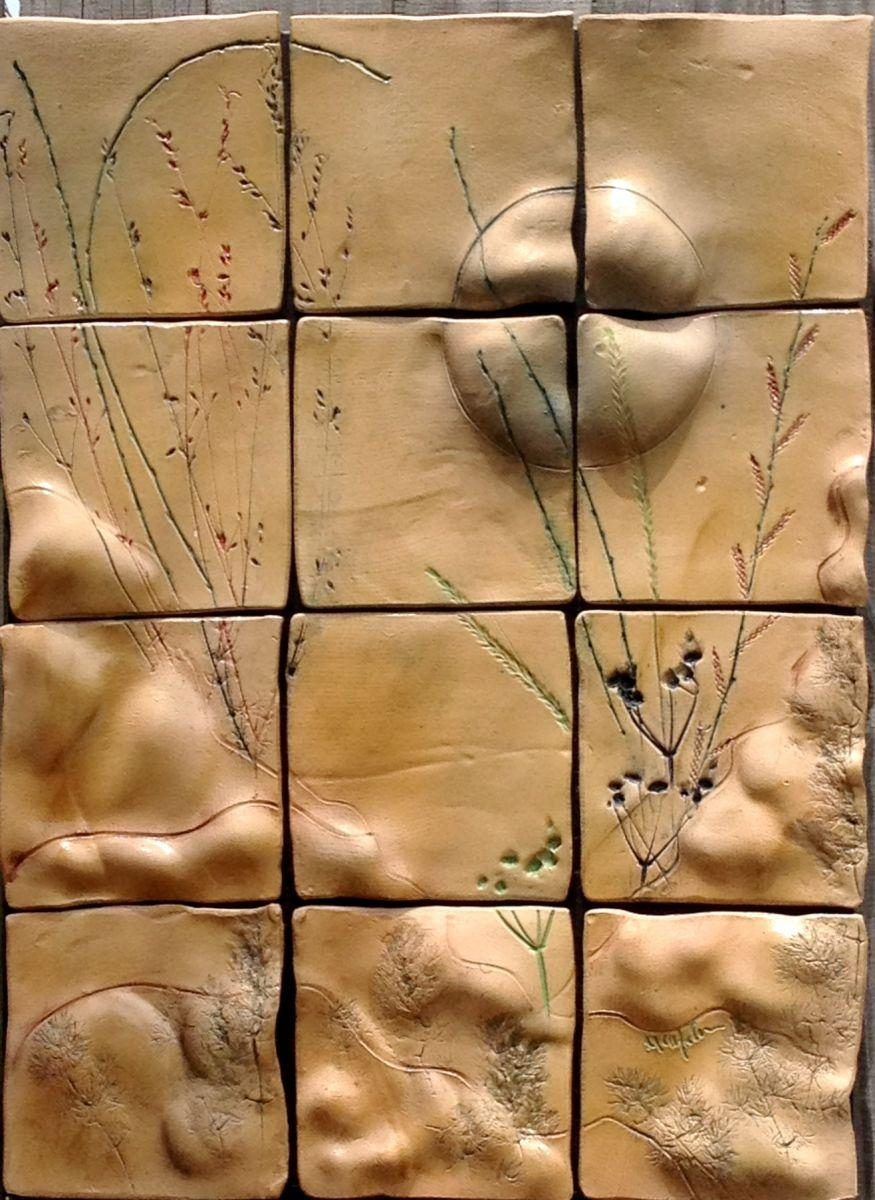 Thru The Golden Valley: Ceramic Tile Wall Art, Original Ceramic With Ceramic Tile Wall Art (Image 20 of 20)
