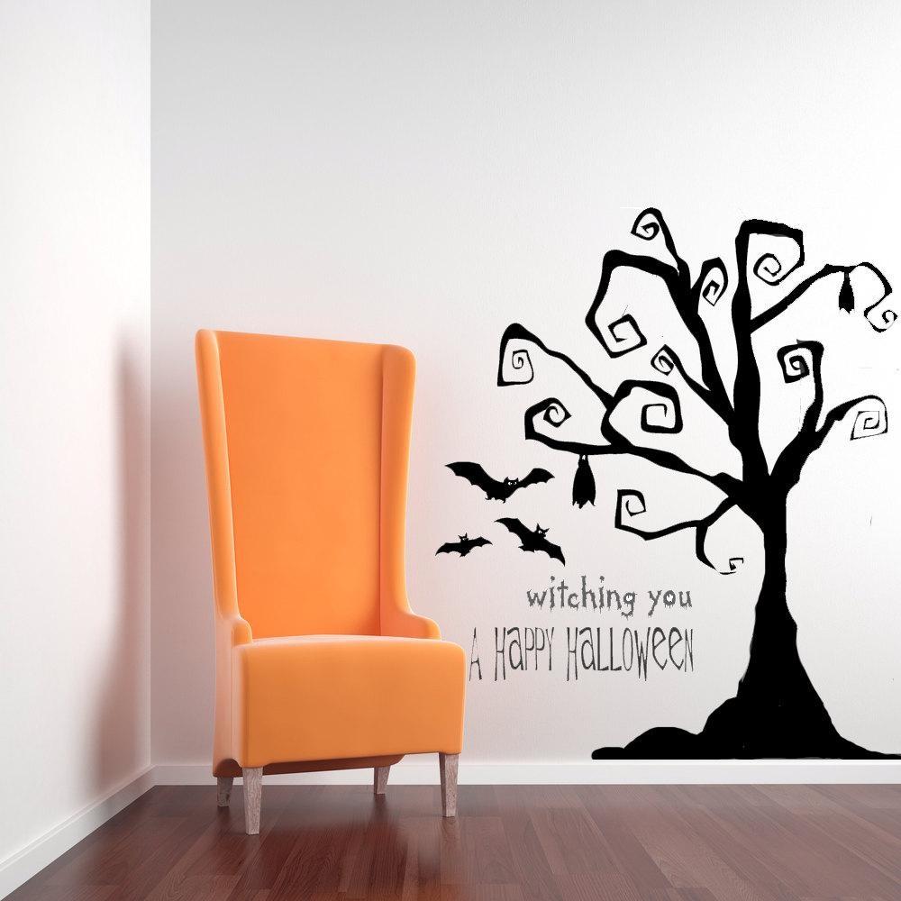 Tim Burton Decor Tree Wall Decal Tree Decal Halloween Tree For Tim Burton Wall Decals (Image 17 of 20)