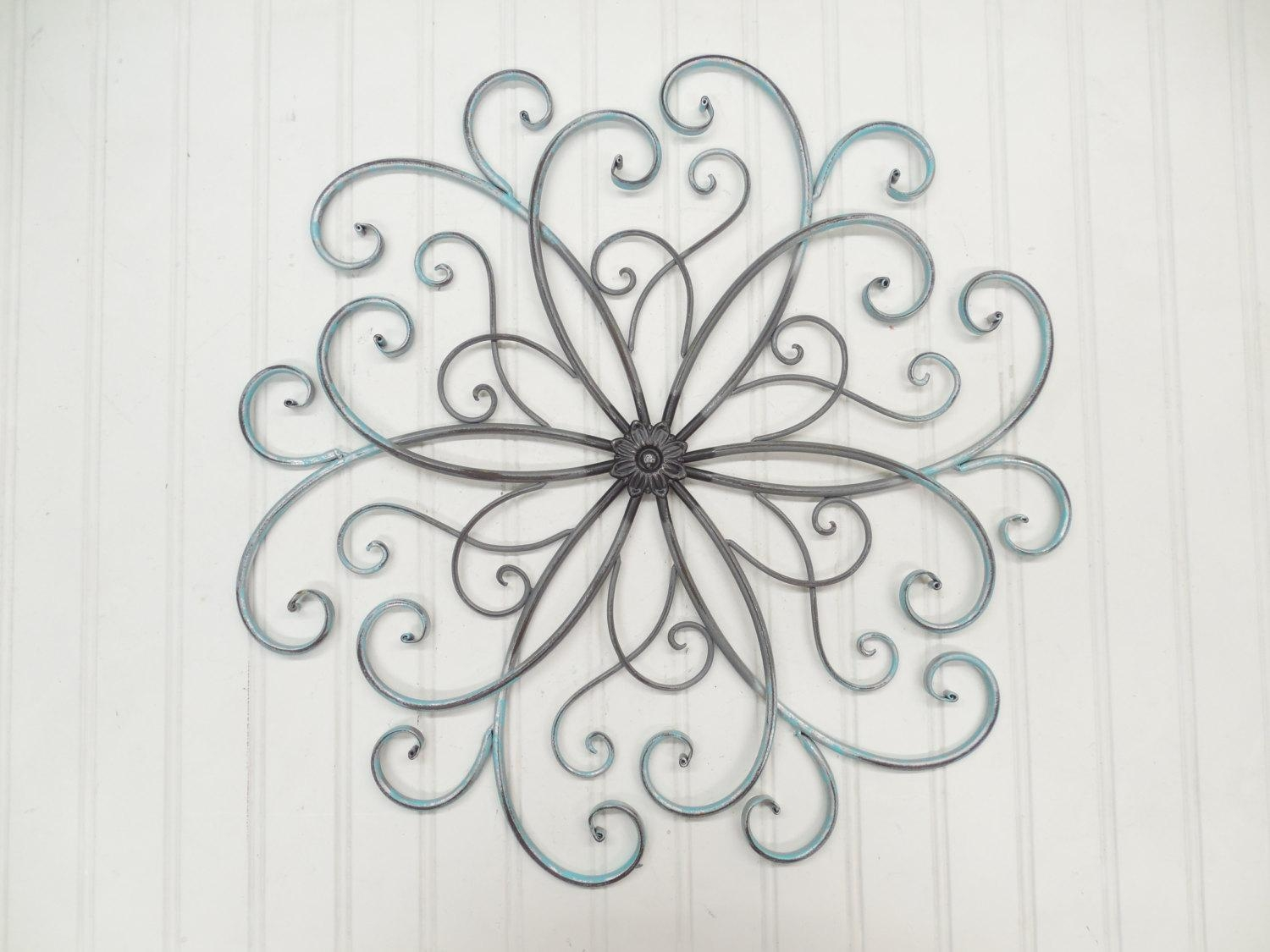 Tips & Ideas: Exciting Wrought Iron Wall Art For Interiors Intended For Wrought Iron Garden Wall Art (Image 11 of 20)