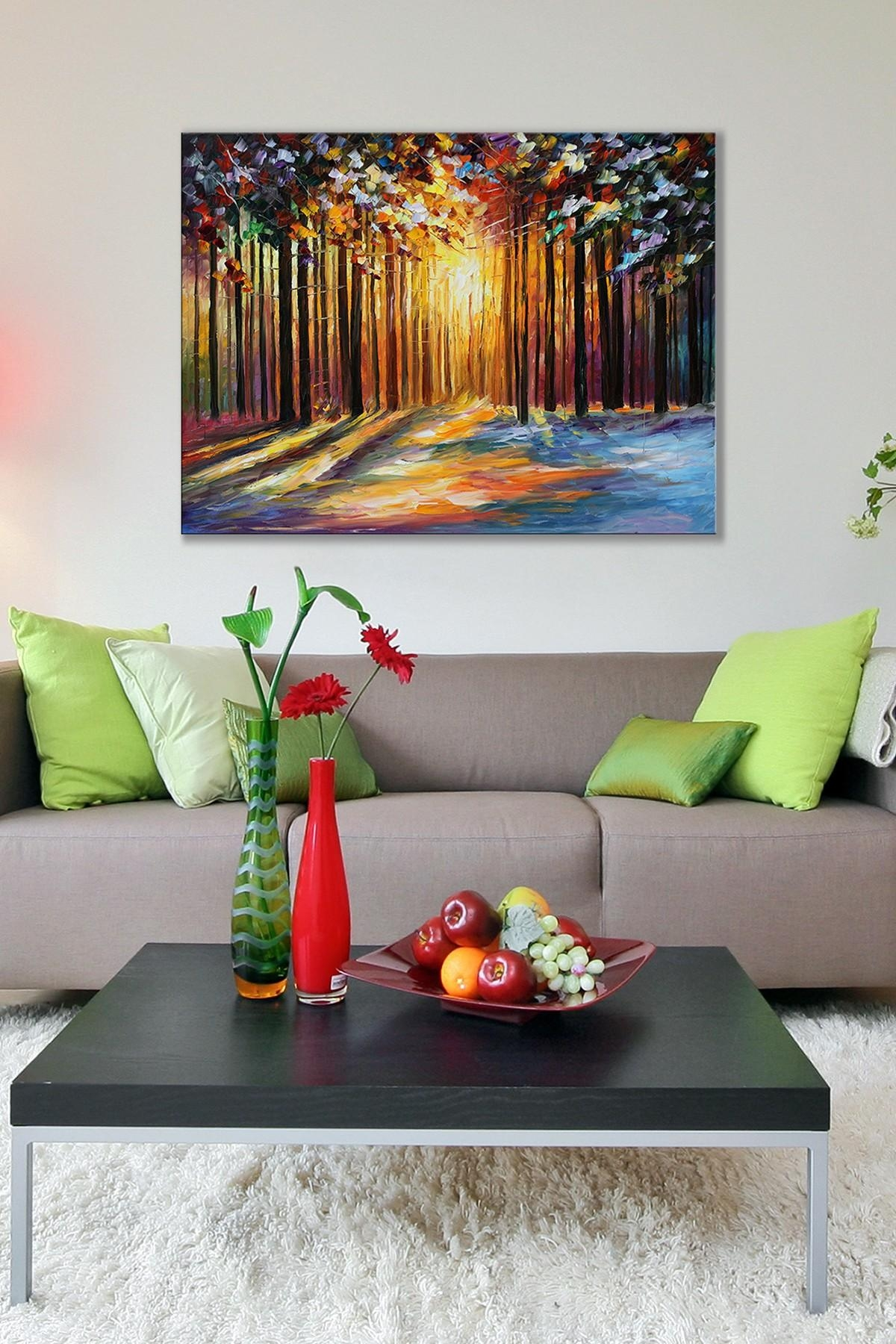 To Increase Prosperity & Luck Feng Shui Southwest Wall Or Room Inside Feng Shui Wall Art (View 5 of 20)