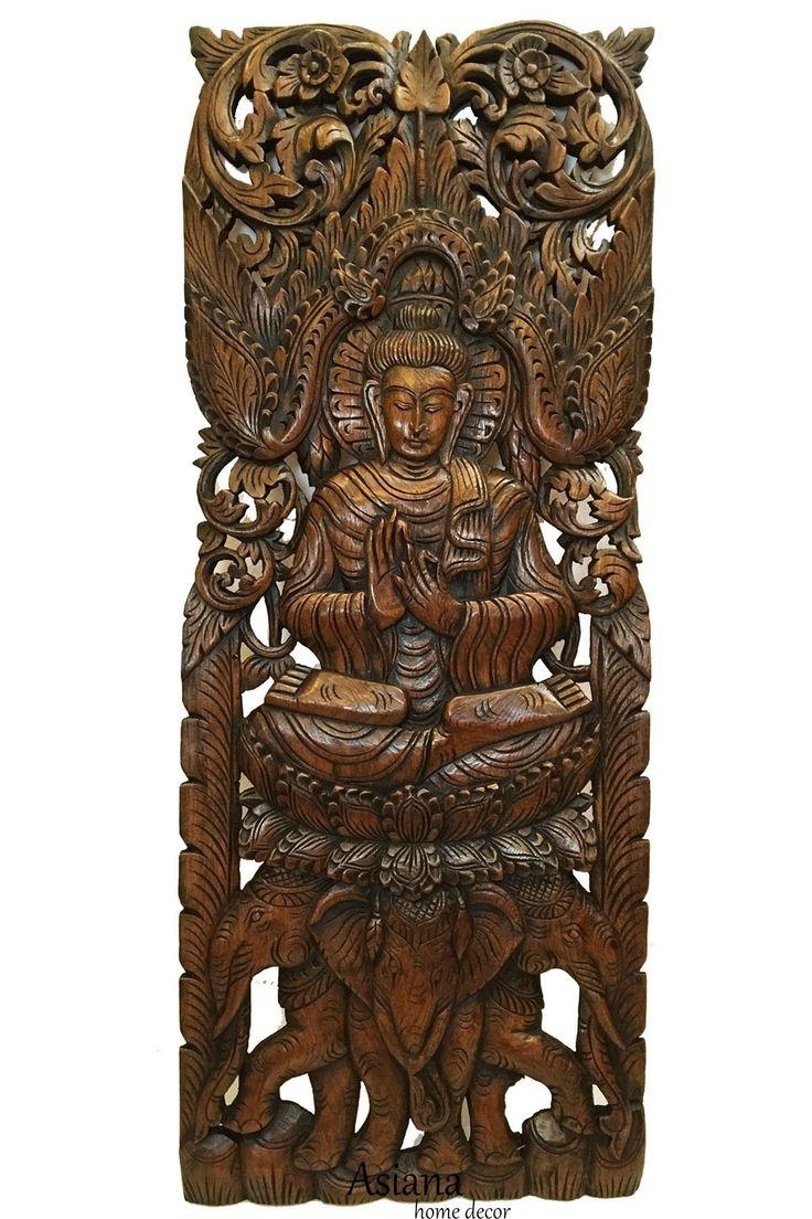 Top 25+ Best Carved Wood Wall Art Ideas On Pinterest | Thai Decor For Balinese Wall Art (Image 16 of 20)