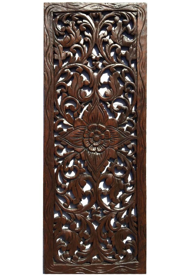 Top 25+ Best Carved Wood Wall Art Ideas On Pinterest | Thai Decor Intended For Dark Wood Wall Art (Image 13 of 20)