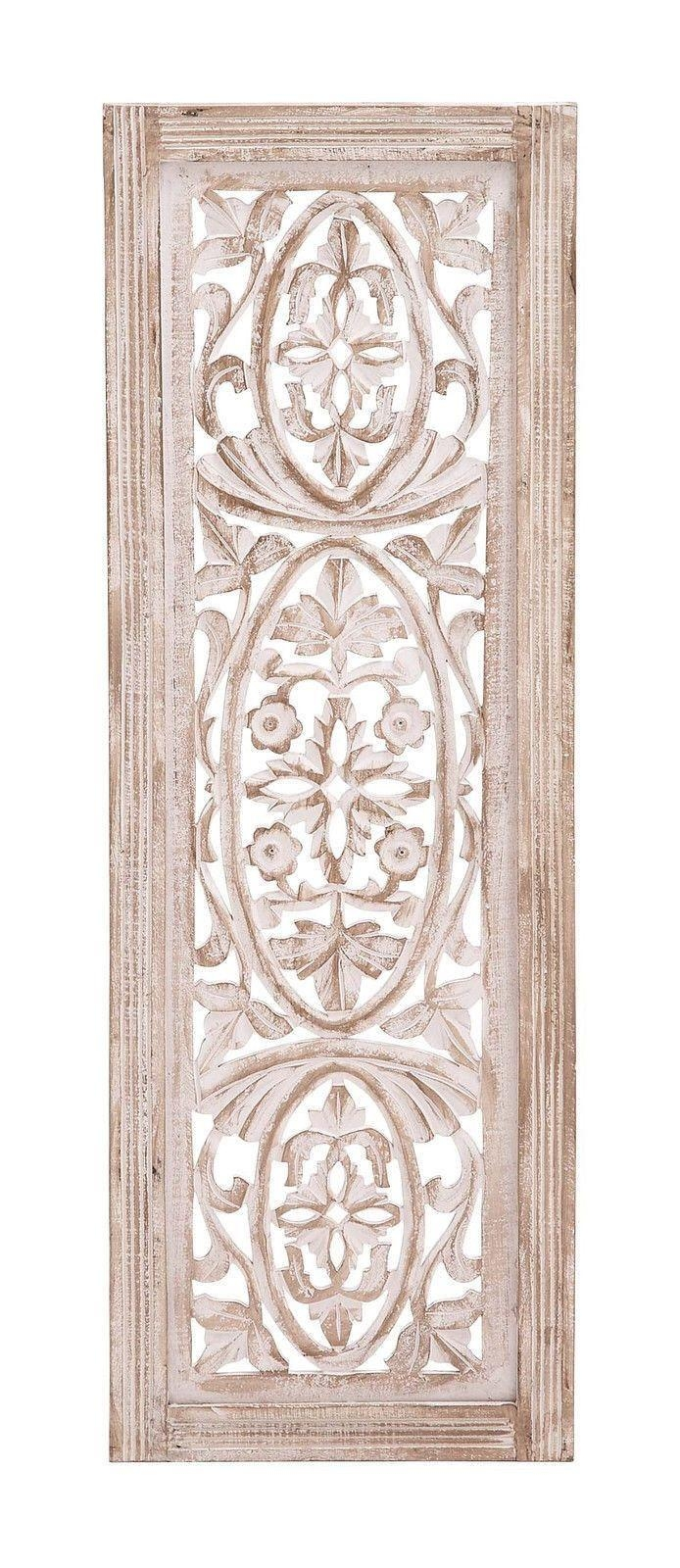 Top 25+ Best Carved Wood Wall Art Ideas On Pinterest | Thai Decor Throughout White Wooden Wall Art (View 3 of 20)