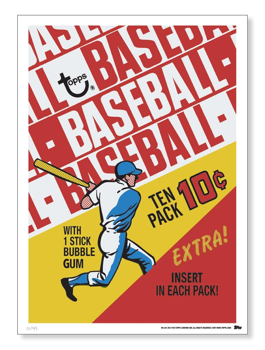 Topps Adds Vintage Baseball Card Wrappers To Its Wall Art Throughout Vintage Baseball Wall Art (Image 19 of 20)