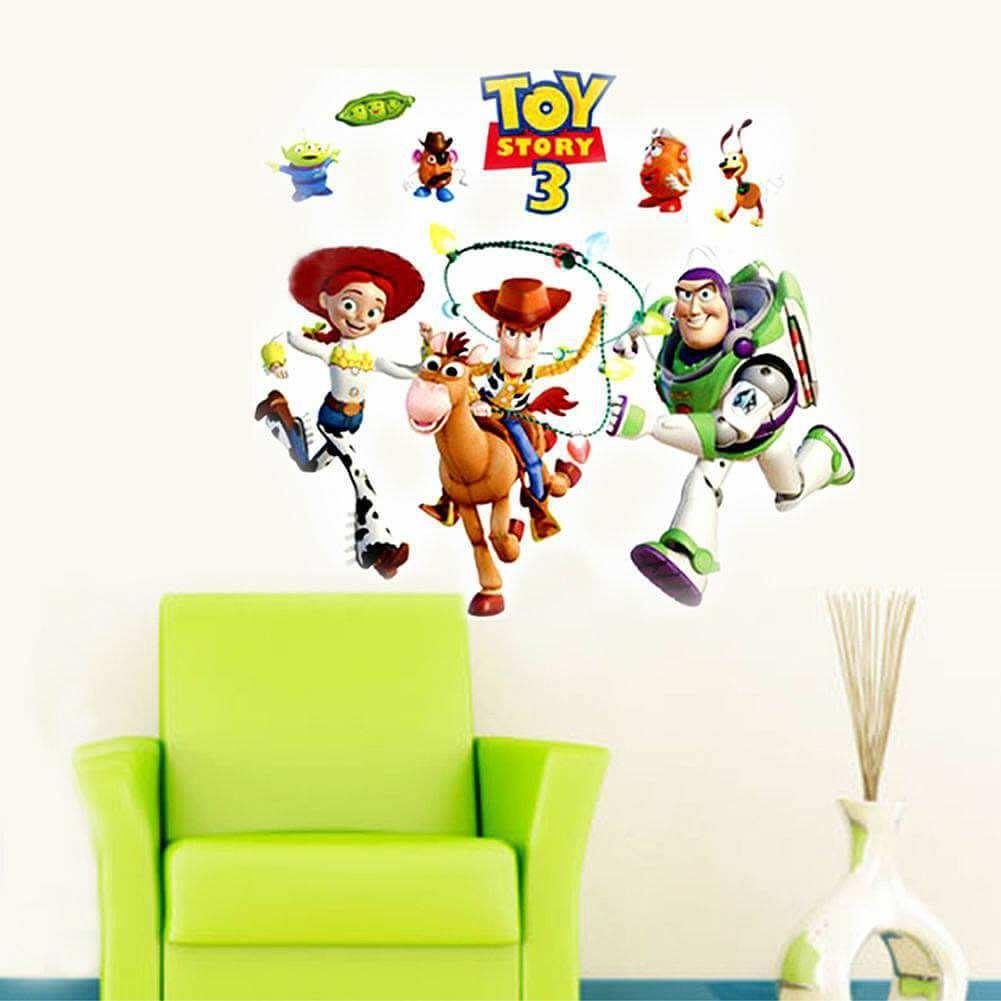 Toy Story 3 Wall Sticker Art Decals For Kids   Boys Room Throughout Toy Story Wall Stickers (Image 17 of 20)