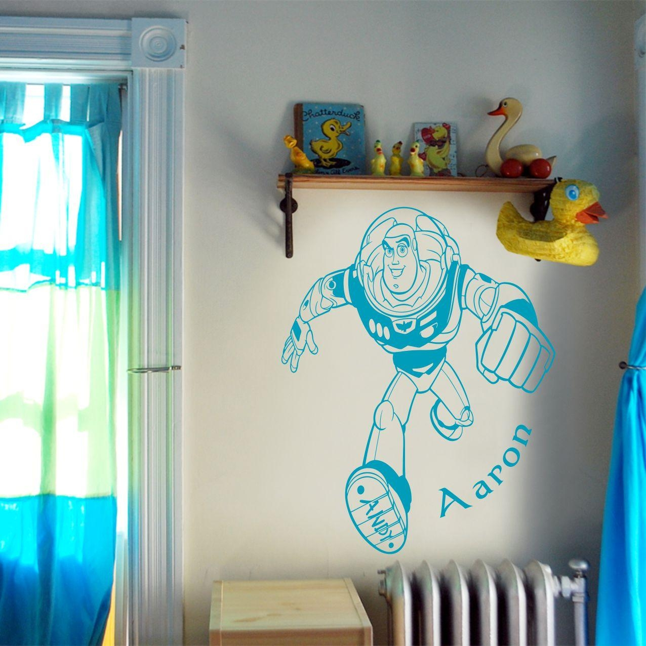 Toy Story Buzz Lightyear Wall Art Decal Vinyl Sticker Wall In Toy Story Wall Stickers (View 11 of 20)