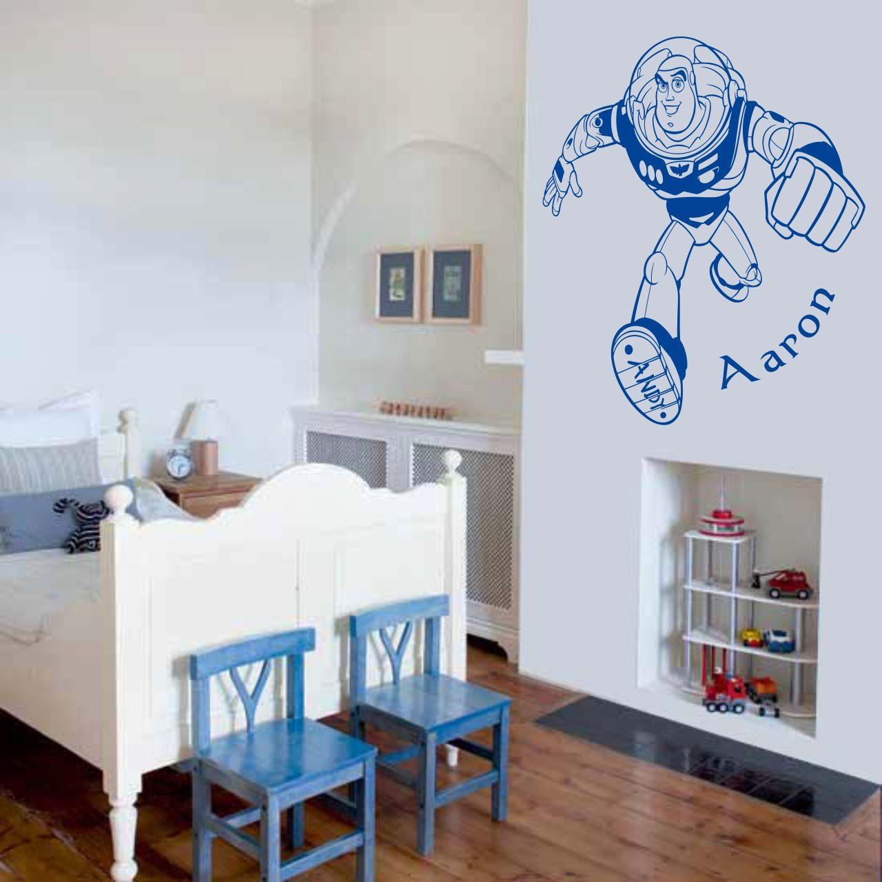 Toy Story Buzz Lightyear Wall Art Decal Vinyl Sticker Wall Inside Toy Story Wall Art (Image 17 of 20)