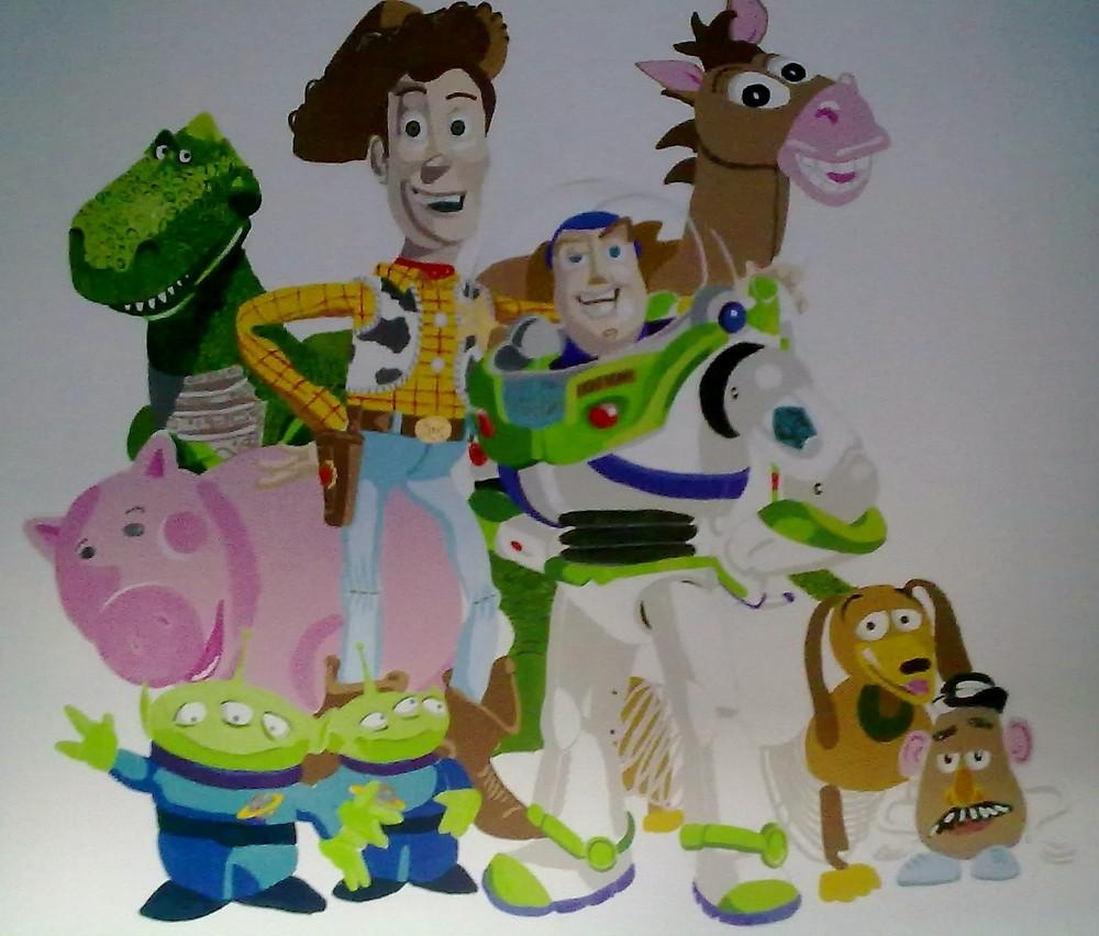 """Toy Story Wall Mural""""smogmonkey 