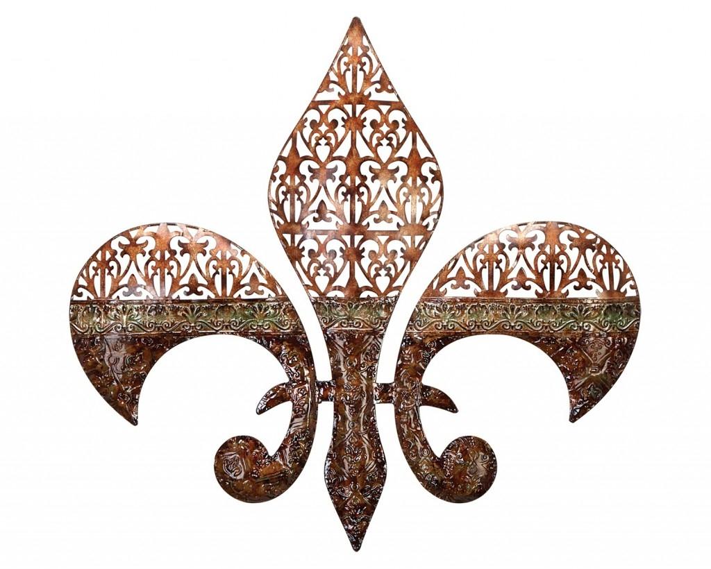 Traditional Decorative Metal Wall Art Panels Ideas~ Popular Home Inside Metal Fleur De Lis Wall Art (Image 19 of 20)