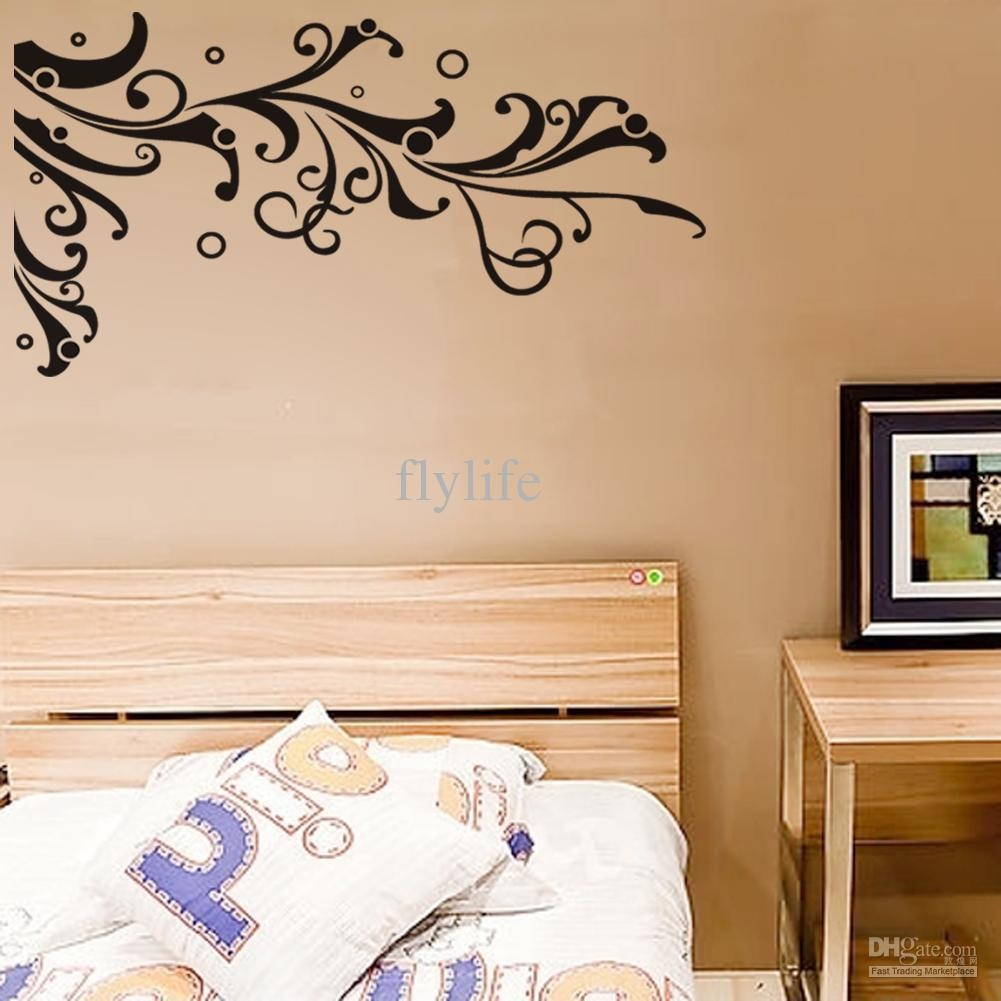 Tree Branch Wall Stickers Climbing Vine And Circles, Black Art Throughout Tree Branch Wall Art (Image 15 of 20)