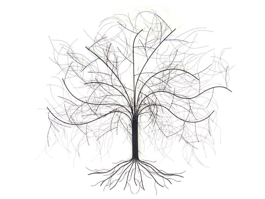 Tree Metal Wall Art Inside Oak Tree Metal Wall Art (Image 16 of 20)