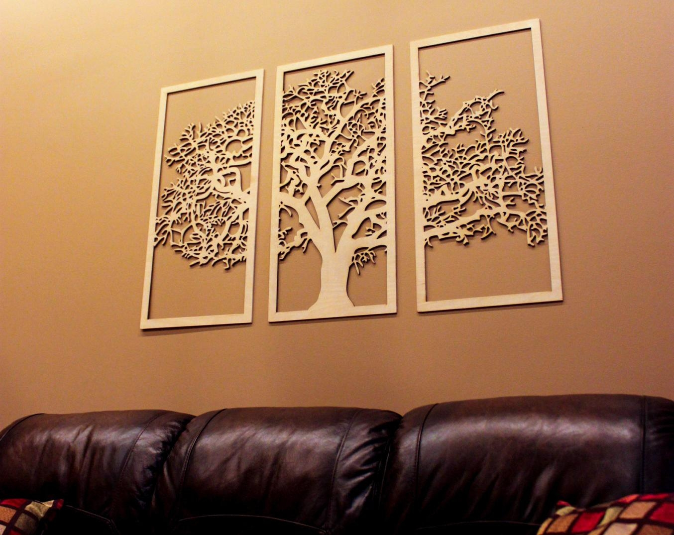 Tree Of Life 3D 3 Panel Tree Wood Wall Art Beautiful Tree With Wood Wall Art Panels (View 19 of 20)