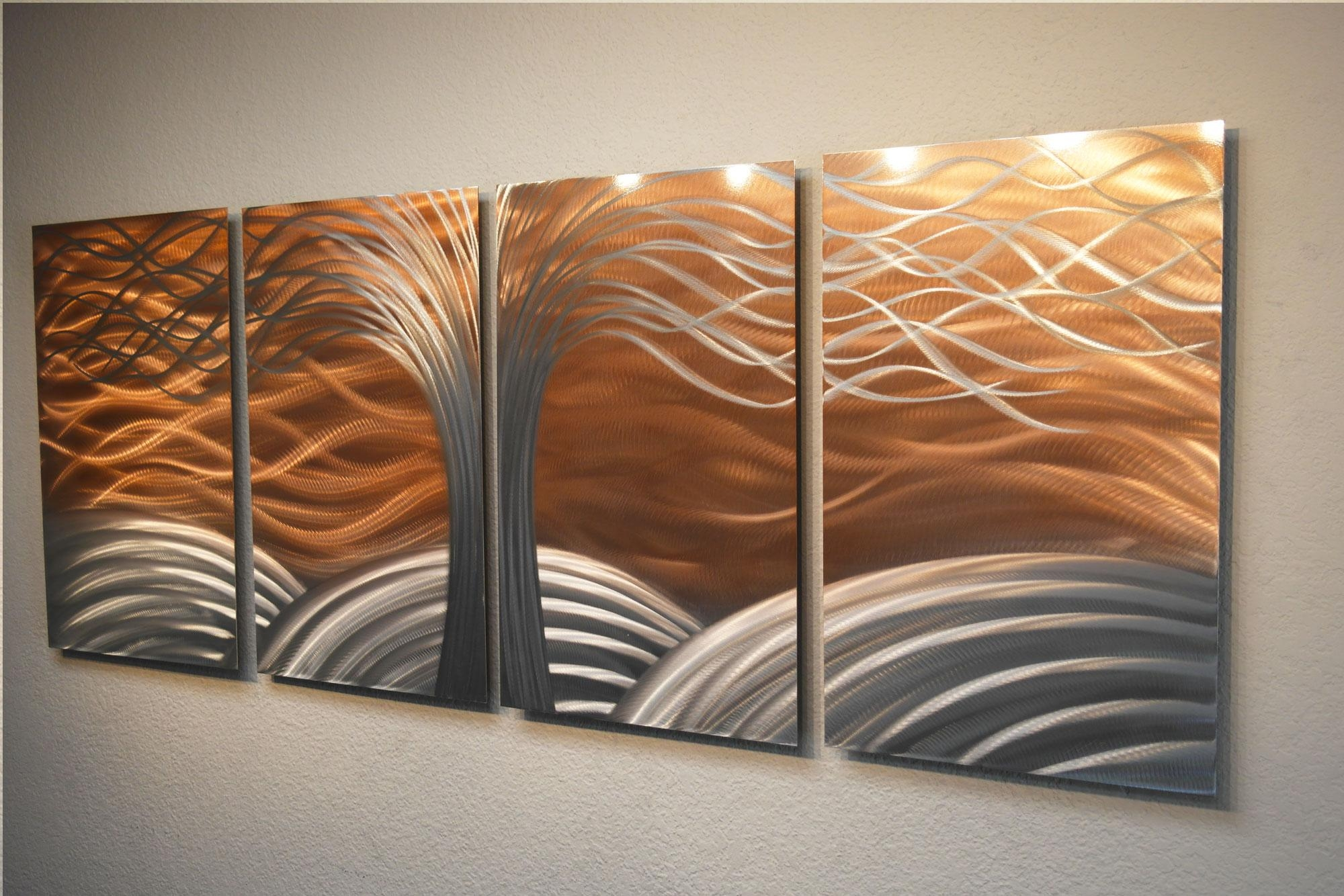 Tree Of Life Bright Copper – Metal Wall Art Abstract Sculpture Throughout Tree Sculpture Wall Art (Image 13 of 20)