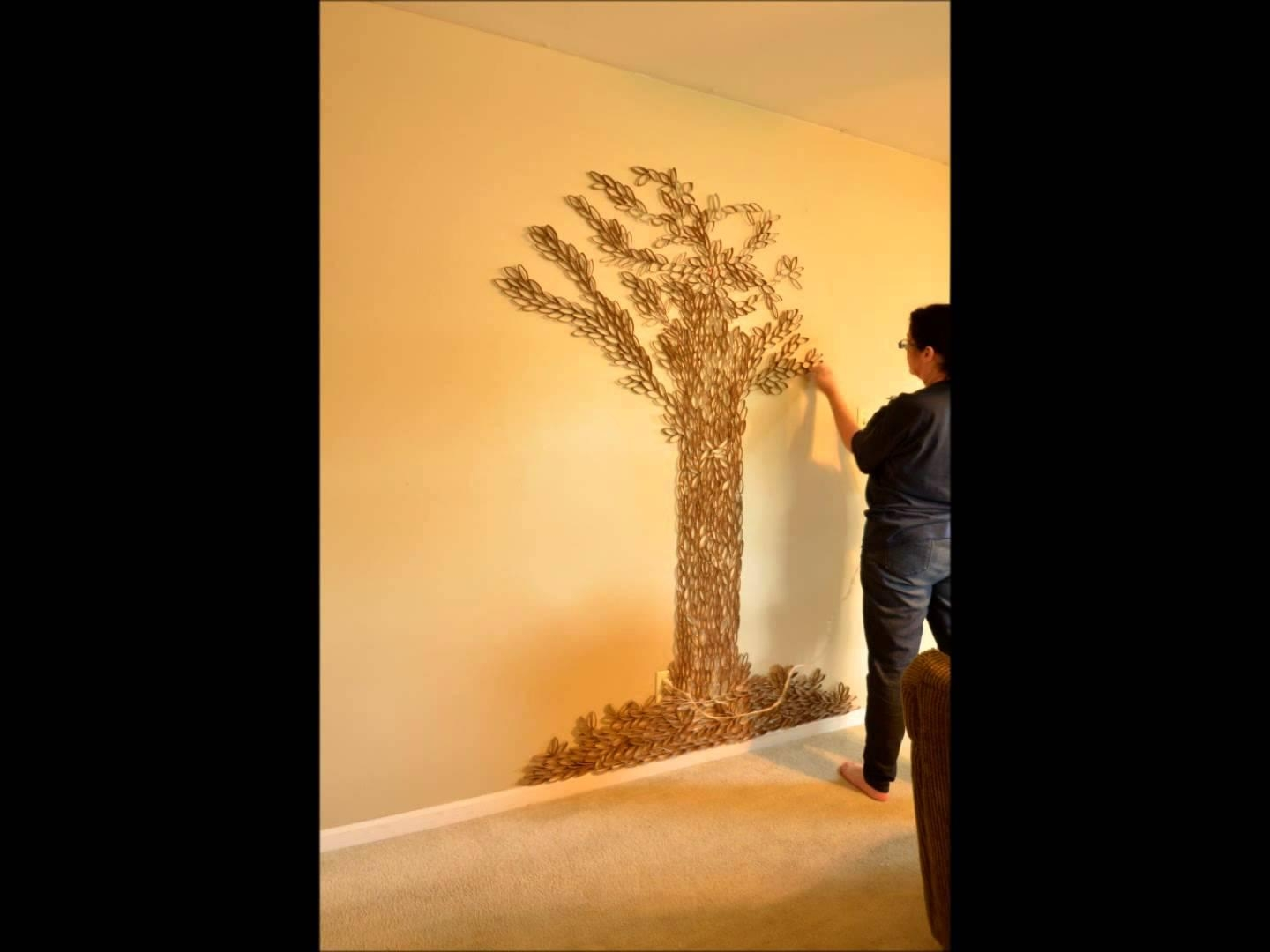 Tree Of Life Wall Art – 7Ft Paper Roll Sculpture In 1 Minute With Regard To Tree Wall Art Sculpture (View 13 of 20)
