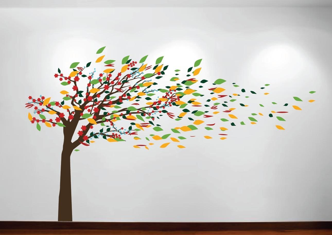 Tree Wall Art Stencil | Wallartideas Pertaining To Oak Tree Wall Art (View 8 of 20)