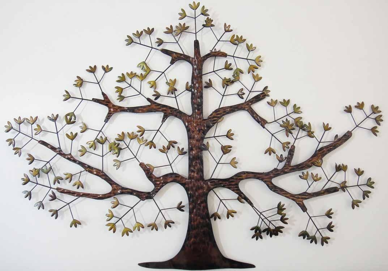 Tree Wall Art | Wallartideas Pertaining To Big Metal Wall Art (Image 16 of 20)