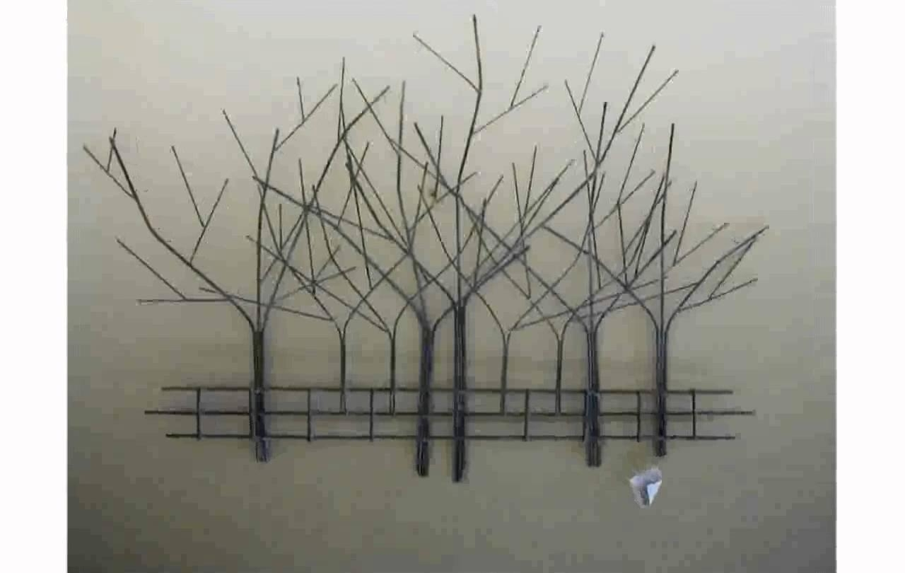 Tree Wall Art – Youtube Within Metal Tree Wall Art Sculpture (View 4 of 20)