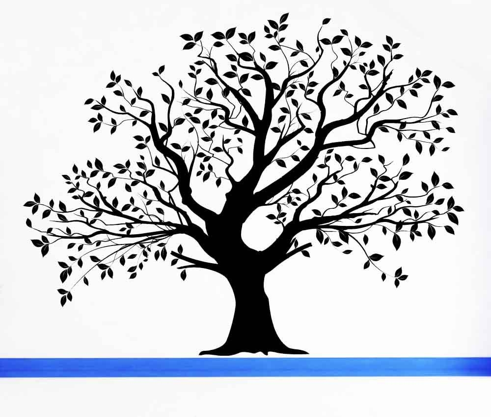 Tree Wall Decal Tree Decal Leaf Decal Family Tree Wall Throughout Oak Tree Wall Art (View 10 of 20)
