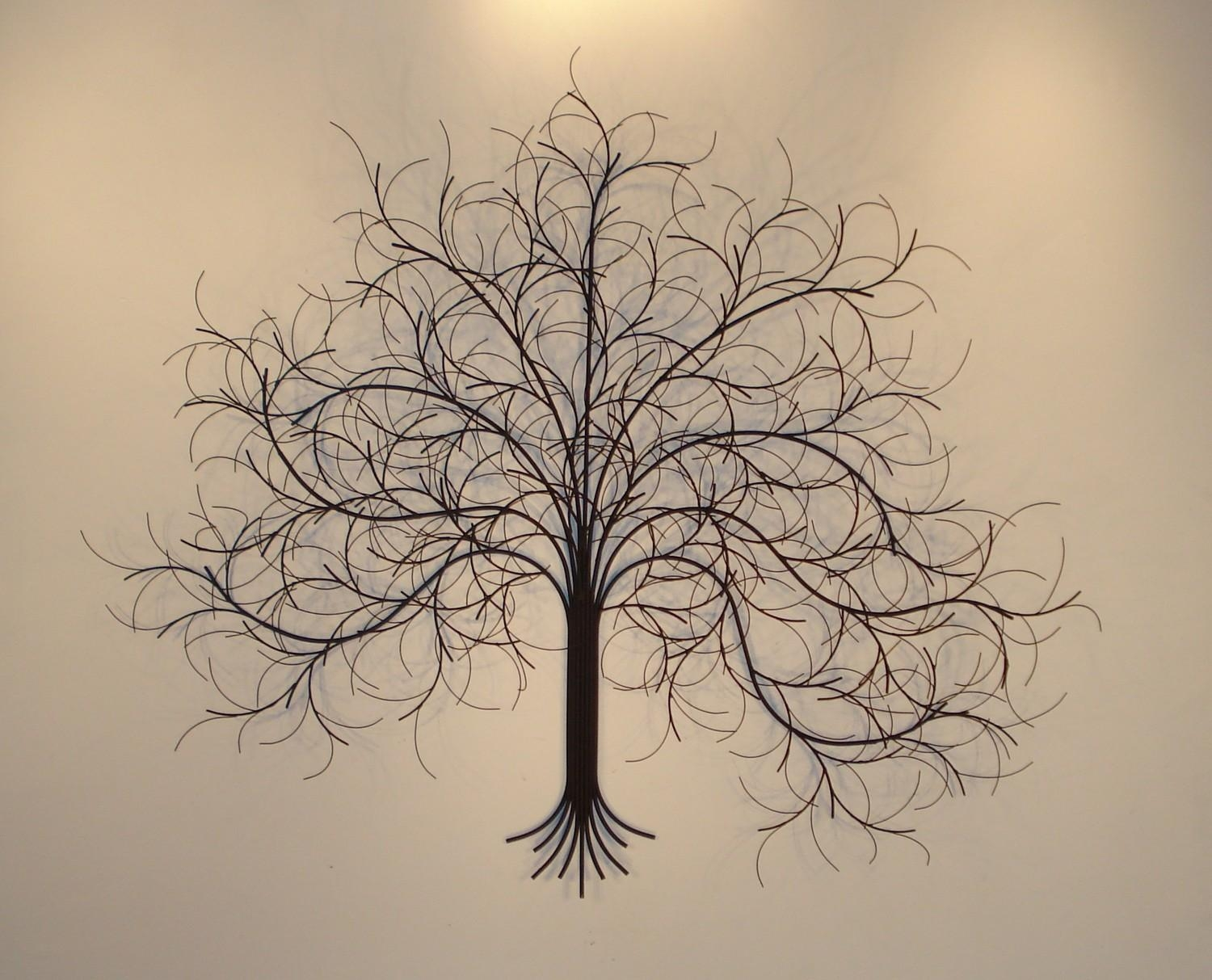Featured Image of Metal Tree Wall Art Sculpture