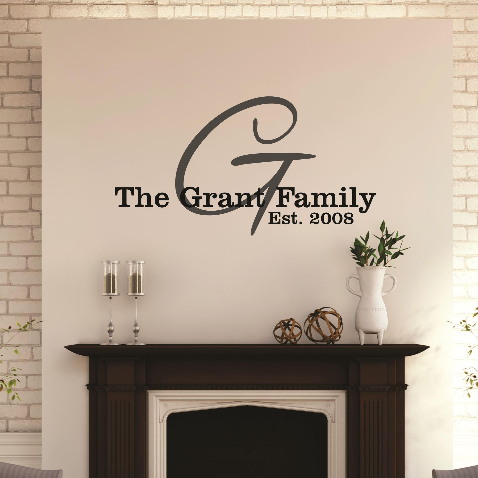 Trendy Last Name Wall Art Gifts Wall Decals Personalised Family Throughout Personalized Last Name Wall Art (View 15 of 20)