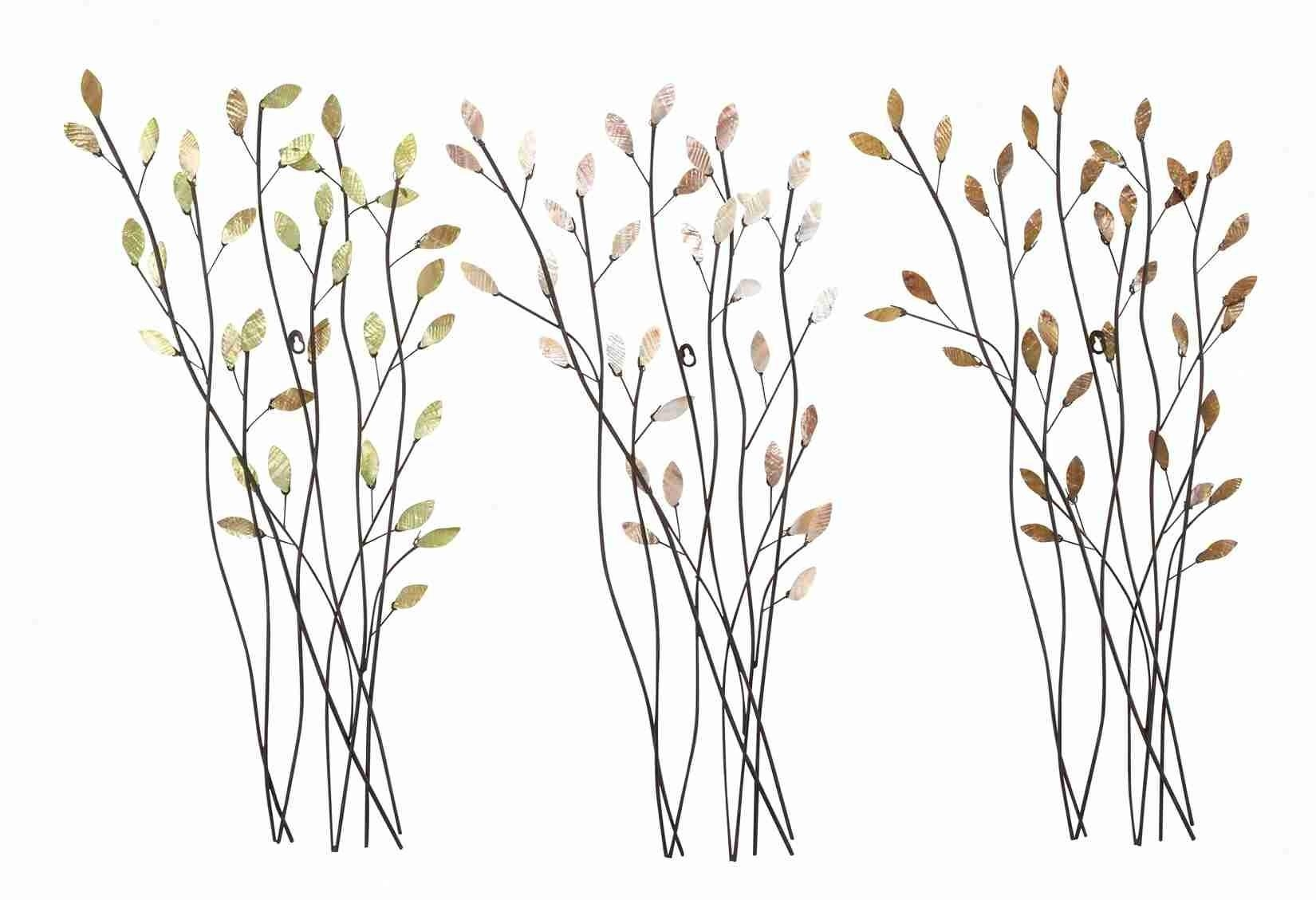 Trio Of Branches – Floral Metal Wall Art In Kohl's Metal Wall Art (Image 19 of 20)