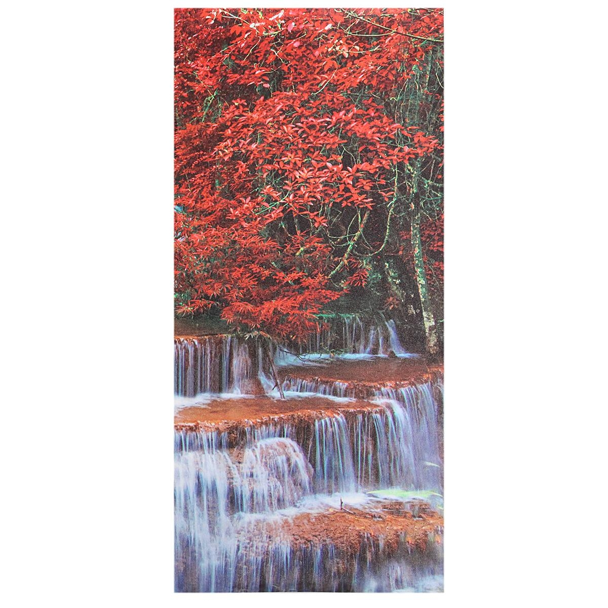 Triptych Frameless Canvas Prints Wall Art Picture Mangrove Forest Within Waterfall Wall Art (View 14 of 20)
