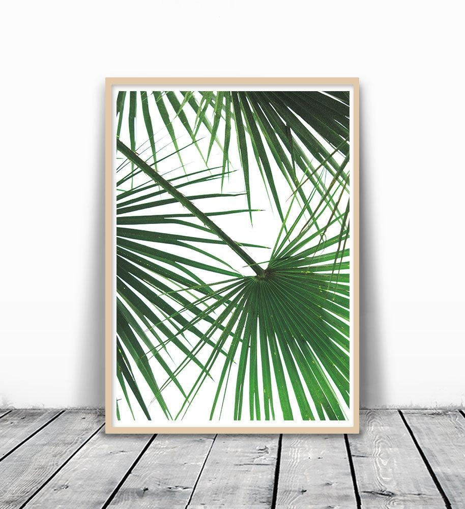 Tropical Leaf Print Palm Tree Print Palm Leaf Print Palm With Palm Leaf Wall Art (View 16 of 20)