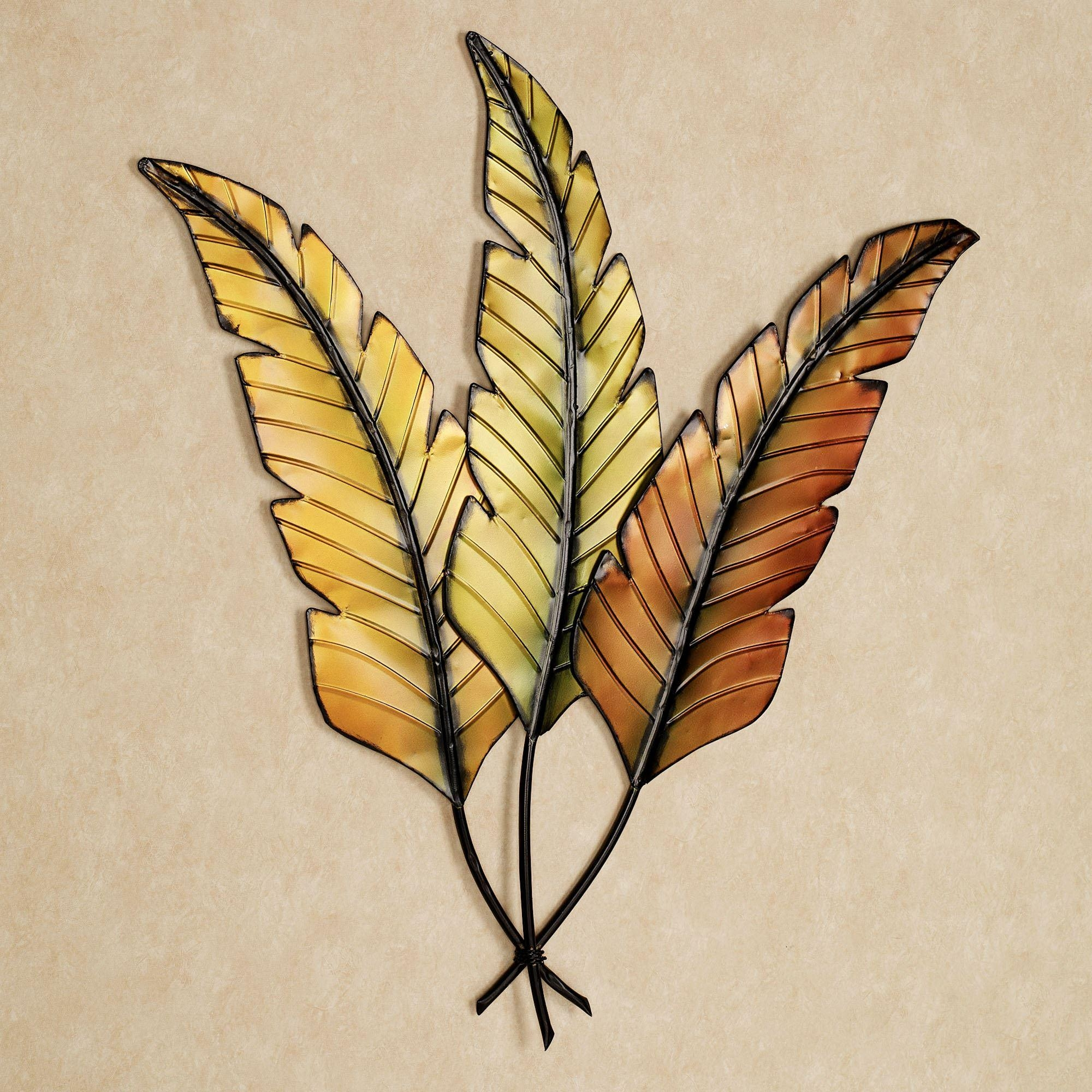 Tropical Wall Art | Touch Of Class Pertaining To Palm Leaf Wall Decor  (Image 18