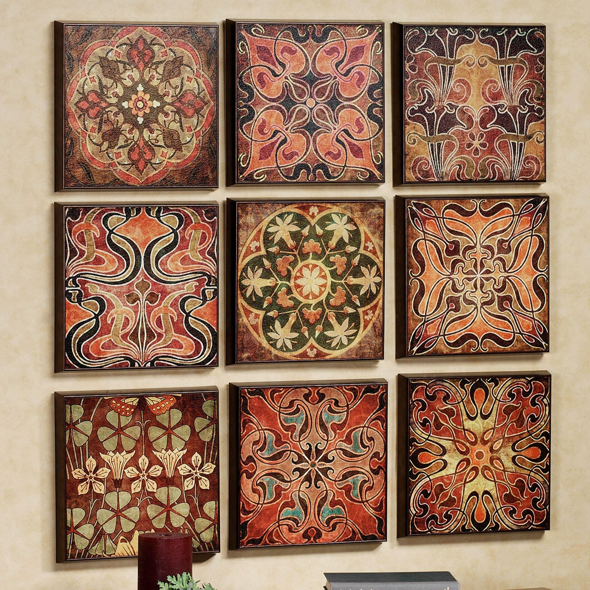 Tuscan 9 Pc Wall Panel Set In Pattern Wall Art (View 7 of 20)