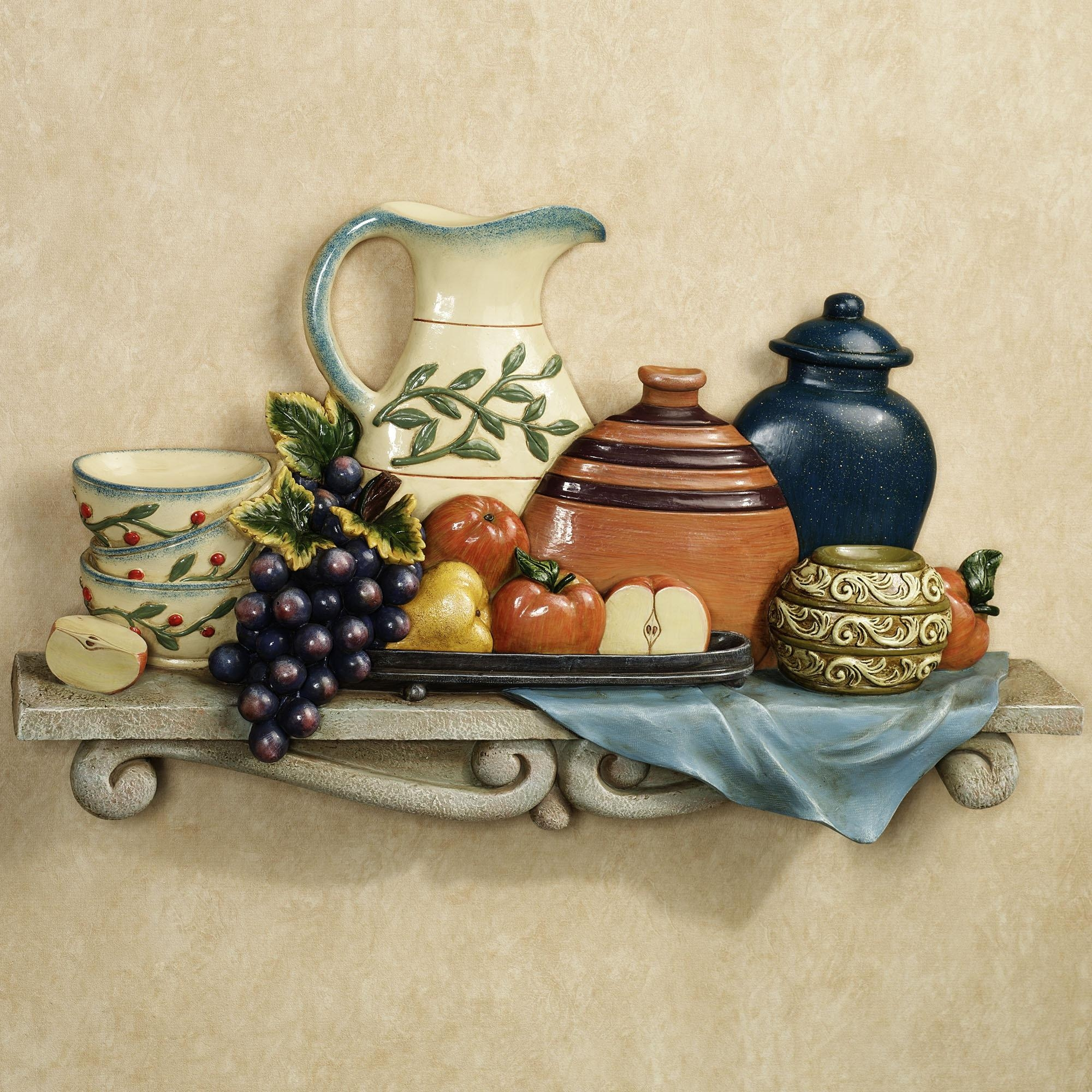 Tuscan Kitchen Wall Decor : Tuscan Décor For A Welcoming Ambience Pertaining To Italian Ceramic Wall Clock Decors (Image 16 of 20)