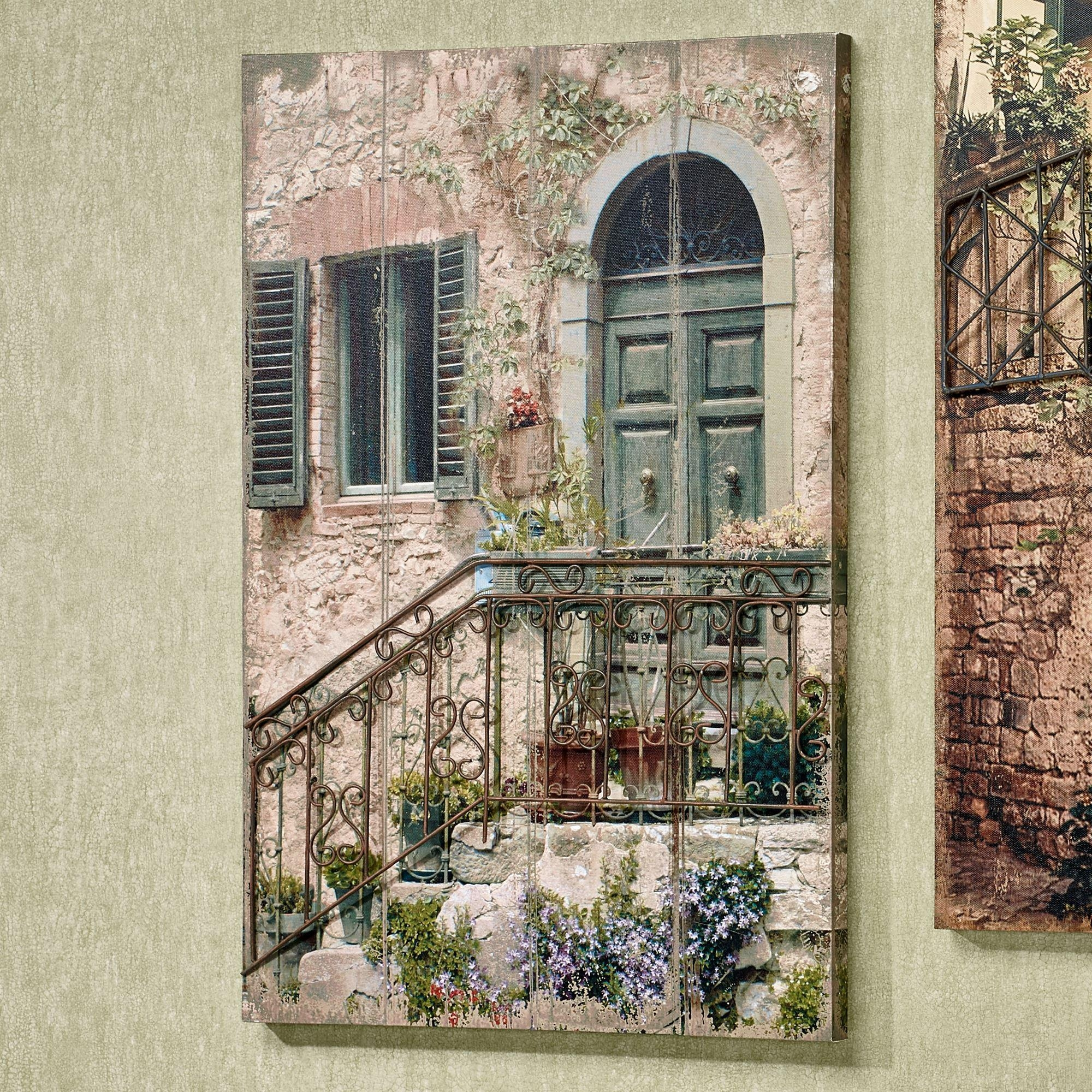 Tuscan Staircase Canvas Wall Art With Metal Details In Tuscany Wall Art (View 6 of 20)