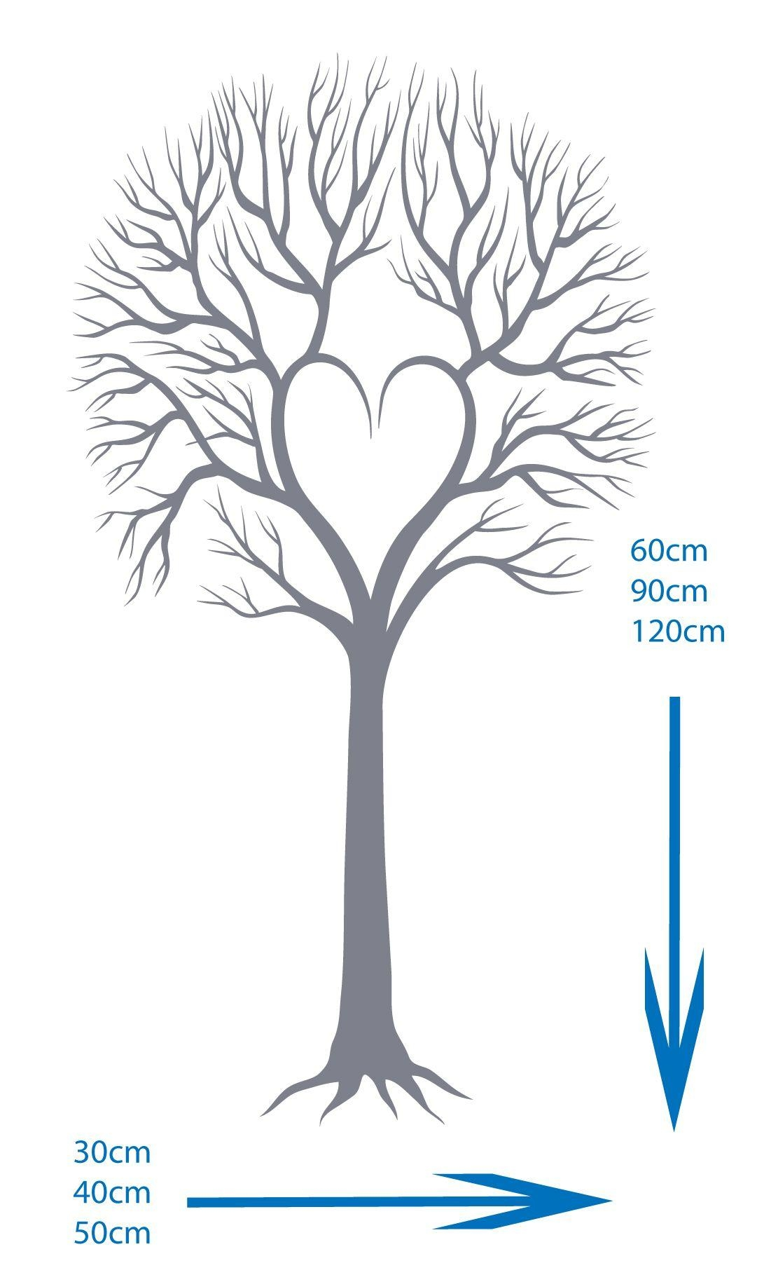 Twiggy Loveheart Tree – Vinyl Wall Art Decal Sticker For Twiggy Vinyl Wall Art (Image 9 of 20)