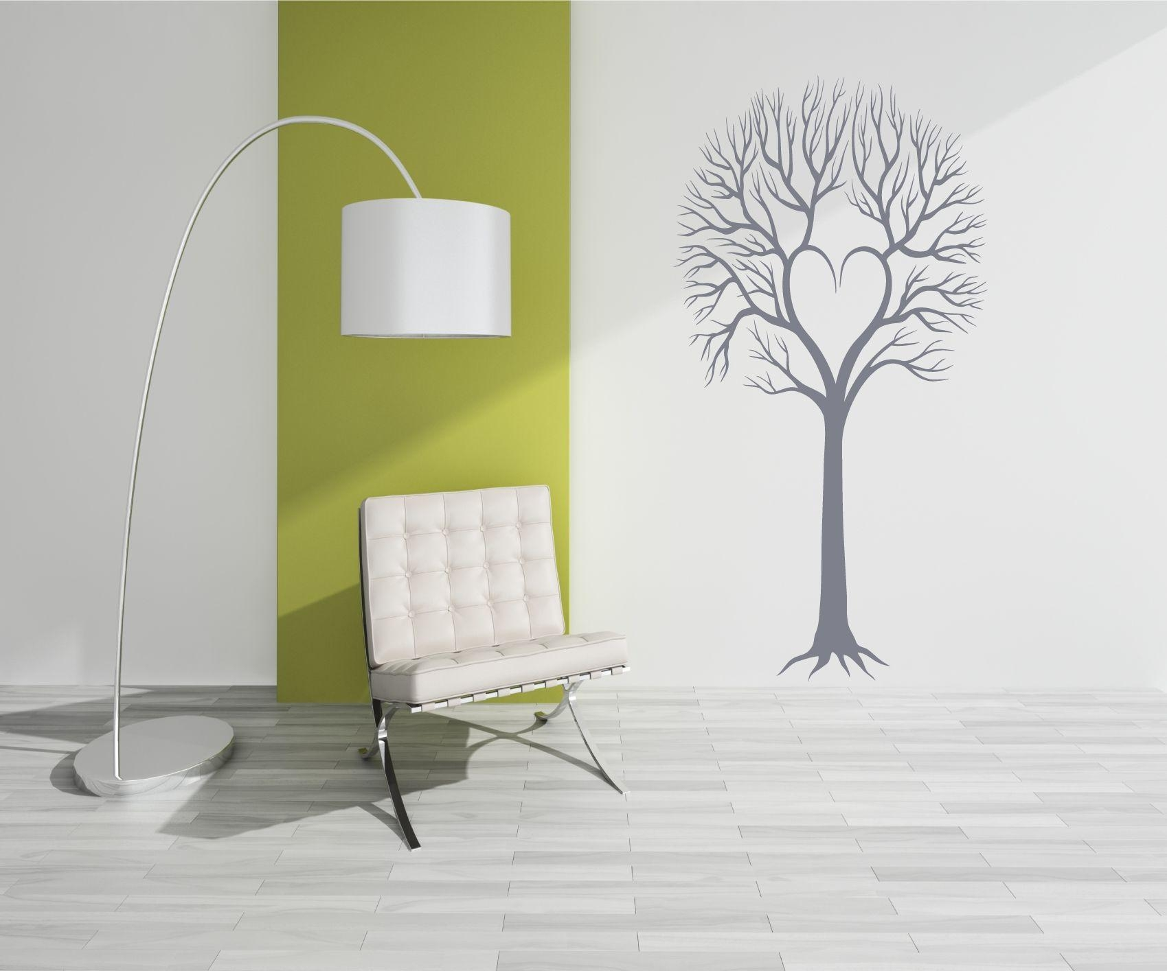 Twiggy Loveheart Tree – Vinyl Wall Art Decal Sticker Within Twiggy Vinyl Wall Art (Image 10 of 20)