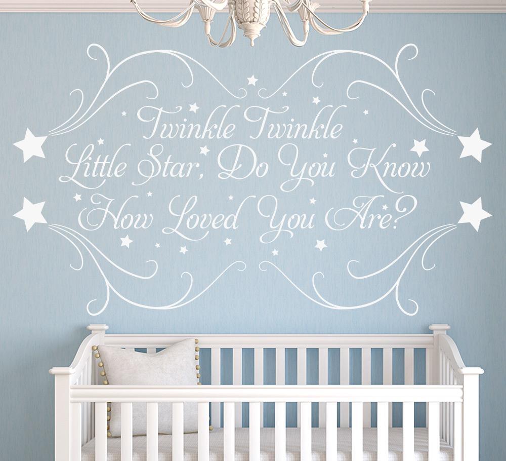 Twinkle Little Star Personalised Nursery Wall Sticker Intended For Nursery Wall Art (View 12 of 20)