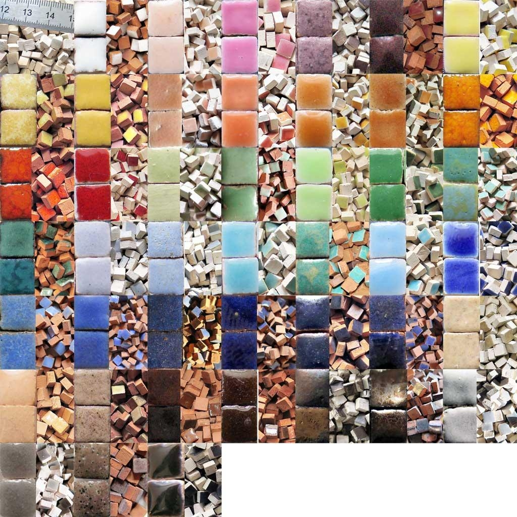 Uk Mosaic Art Supplies: Glazed Ceramic Mini Mosaic Tiles – 10G In Mosaic Art Kits For Adults (View 6 of 20)