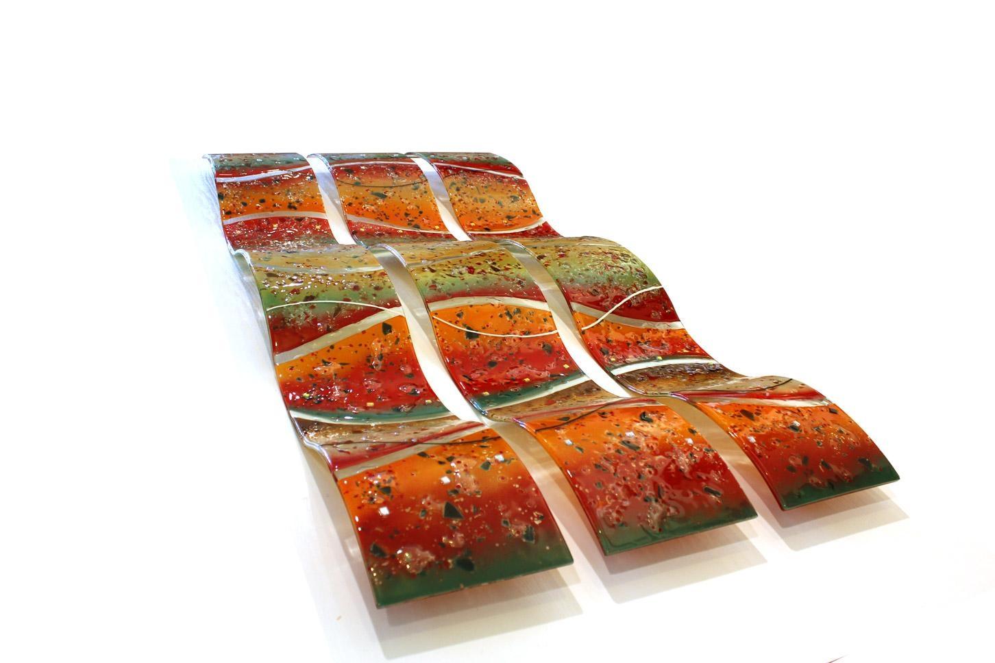 Unique Glass Art Archives | Linear Glass Art | Fused Glass Wall Art With Regard To Fused Glass Wall Art (View 13 of 20)