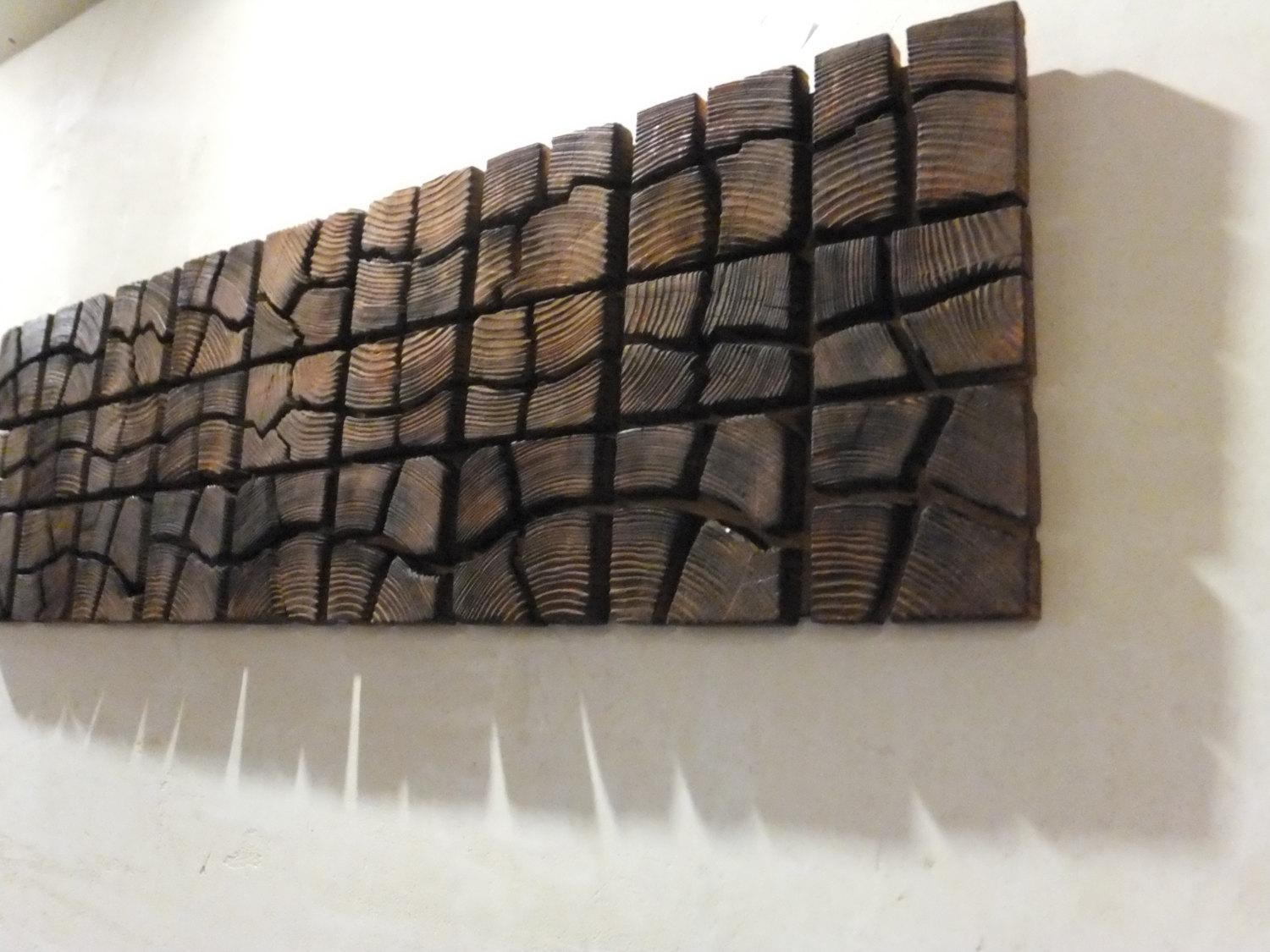 Unique Wooden Wall Art 40 X 12 X 2 Home Inside Wall Art On Wood (View 12 of 20)