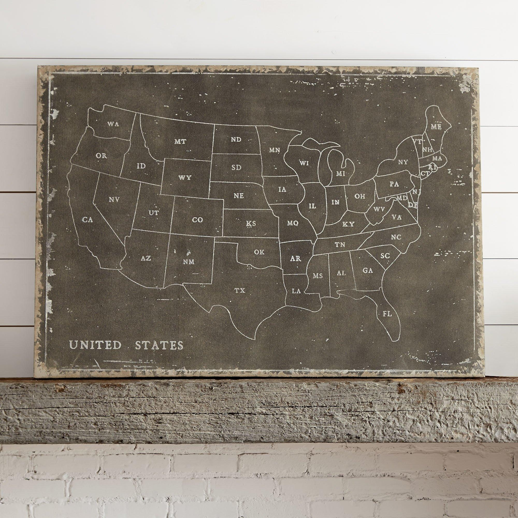 United States Craft Beer Wall Map Art Poster Of Breweries. Usa Map for Us Map Wall Art