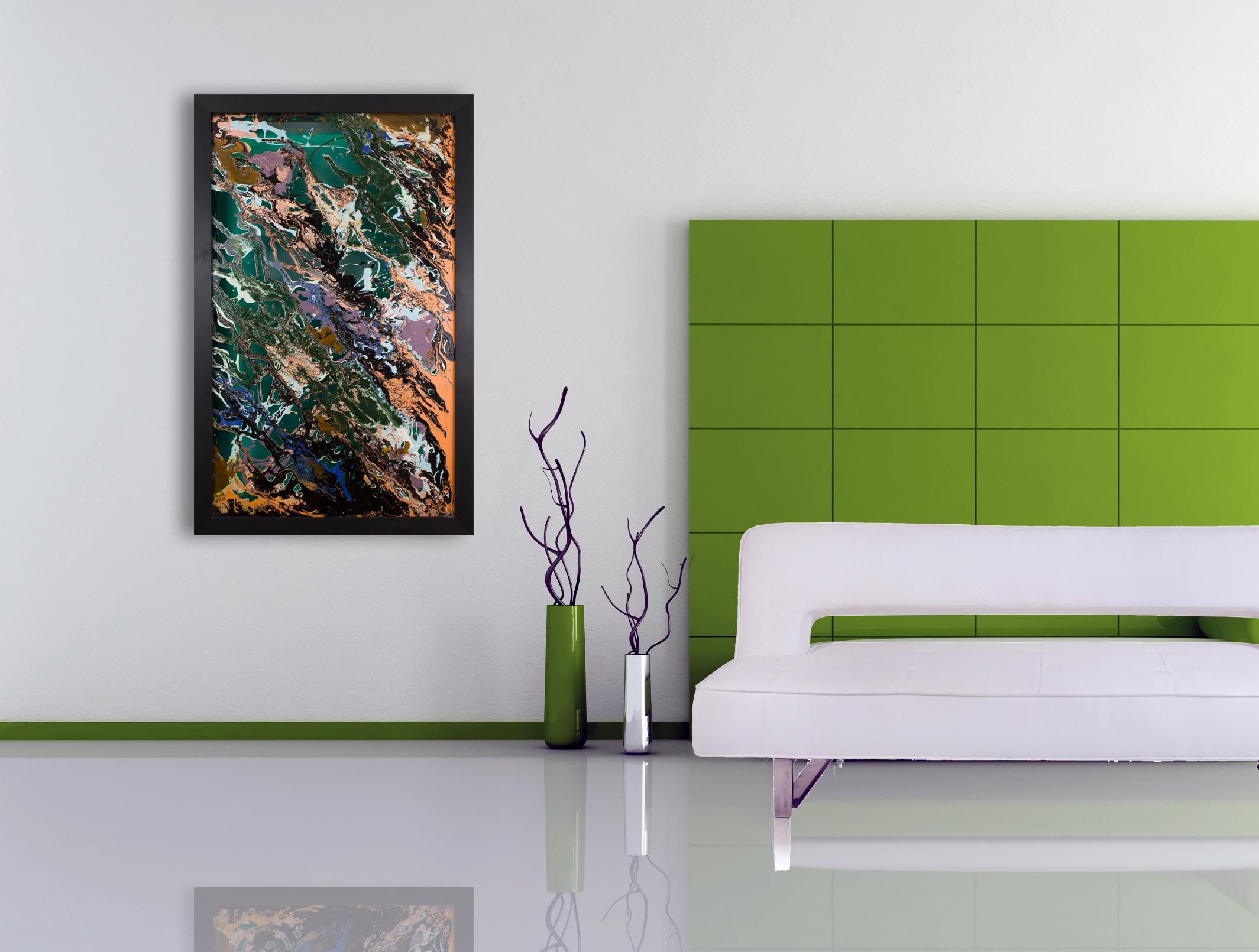 Unusual Glass Art | Abstract Painting | Handmadecraig Anthony within Modern Wall Art Uk