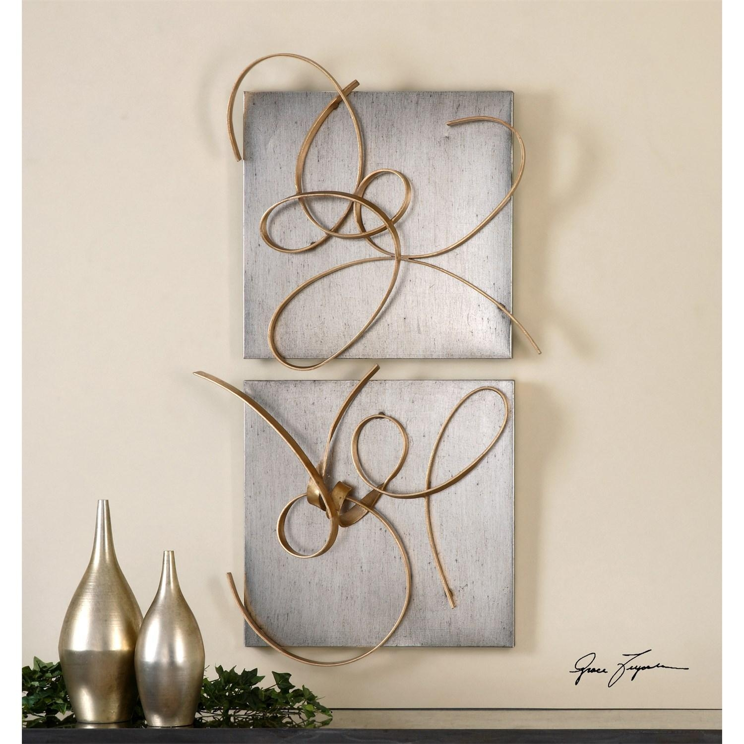 Uttermost 07071 Harmony Metal Wall Art - Set Of 2 - Homeclick within Uttermost Metal Wall Art